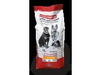Счастливчик корм для собак Стандарт с курицей 15кг для средних и крупных пород