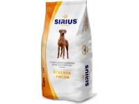 Полнорационный корм Sirius для собак - ягненок с рисом, 15 кг