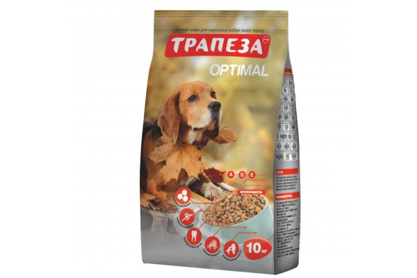 Оптималь сухой корм для собак с говядиной