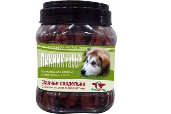 Грин Кьюзин (Green Qzin) лакомство для собак ПИКНИК (заячьи сардельки), 750 гр
