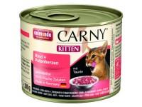 Анимонда для котят Carny Kitten с говядиной, сердцем и индейкой, 200 г