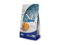 """Корм сухой Farmina """"N&D"""", для взрослых кошек, беззерновой, с рыбой и апельсином,1,5 кг"""