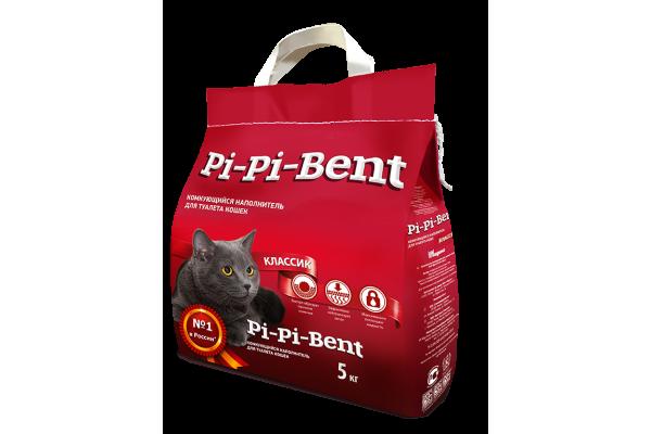 """Наполнитель """"Pi-Pi-Bent"""" комкующийся, 5 кг"""