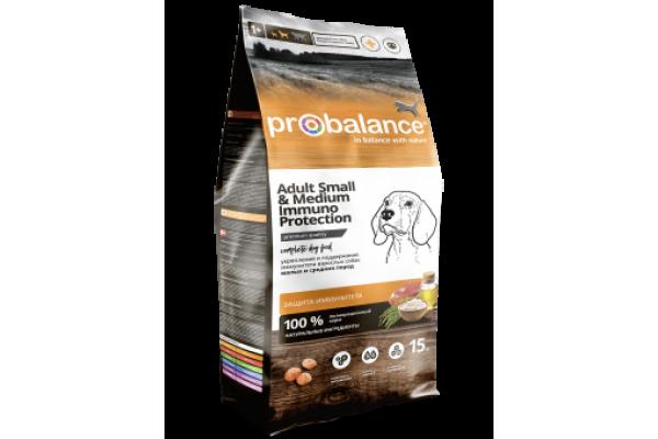 ProBalance Immuno Small/Medium для взрослых собак малых и средних пород, укрепление и поддержание иммунитета, 15 кг