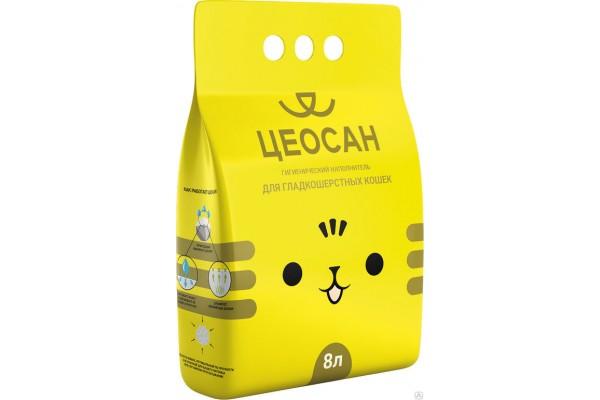 Наполнитель для гладкошерстных кошек ЦЕОСАН, 5,5 кг (8 л)