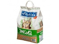 """Наполнитель для кошачьего туалета Vitaline """"Эко№1"""", древесный, 10 кг"""