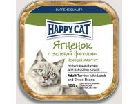 Happy Cat консервы для кошек Паштет Ягненок с зеленой фасолью, 100 г