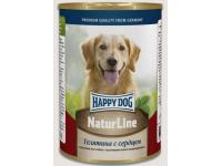 Happy Dog Natur Line консервы для собак Телятина с сердцем, 400 г