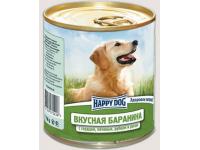 Happy Dog Natur Line консервы для собак Вкусная баранина с сердцем, печенью, рубцом и рисом, 750 г