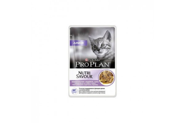 Pro Plan Junior Влажный корм для котят с индейкой (соус), 85 г