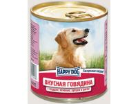 Happy Dog Natur Line консервы для собак Вкусная говядина с сердцем, печенью, рубцом и рисом, 750 г