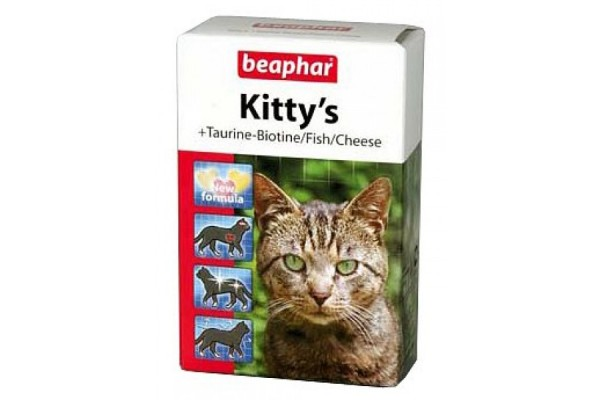 Витамины для кошек Beaphar Kitty's Mix, 180 табл.
