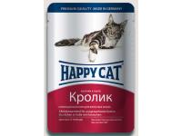Happy Cat конcервы для кошек Нежные кусочки в соусе Кролик, 100 г