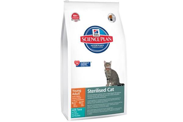 Hill's Science Plan Feline Young Adult Sterilised with Tuna - корм для стерилизованных кошек с 6 месяцев до 6 лет с тунцом, 1,5 кг (9352EA)