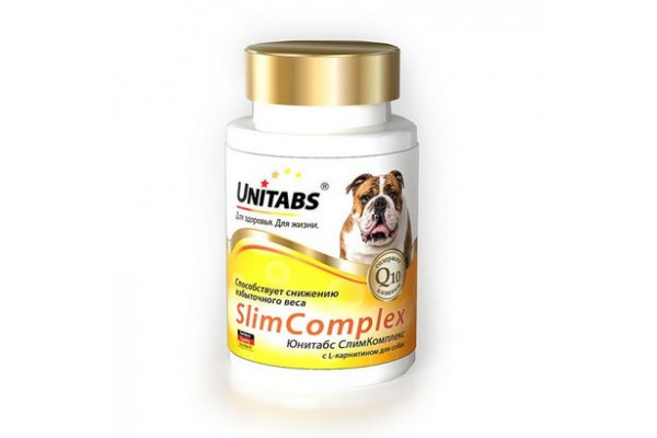 Unitabs SlimComplex для снижения избыточного веса у собак, 100 таблеток
