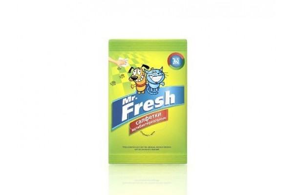Mr. Fresh (М. Фреш) Салфетки антибактериальные, 15 шт