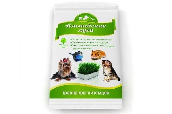 Травка для питомцев универсальная, 50 гр (пакет)