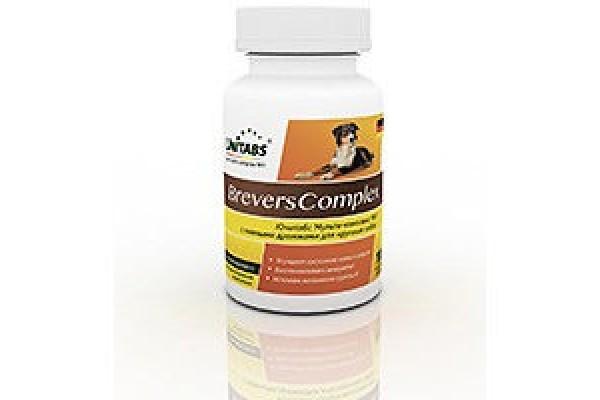 Unitabs BreversComplex с пивными дрожжами для крупных собак, 100 таблеток