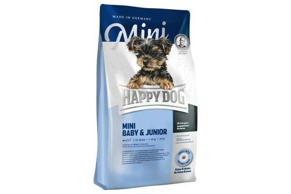 Happy Dog Mini Baby & Junior для щенков мелких пород собак с 4 недель, 300 г