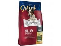 Happy Dog Supreme Mini Africa для взрослых собак мелких пород, склонных к пищевым аллергиям и собак с чувствительным пищеварением, не содержит травы, 300 г