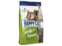 Happy Cat Supreme Adult для взрослых кошек с чувствительным пищеварением Пастбищный Ягненок, 300 г