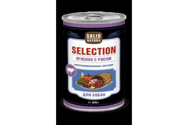 Solid Natura Selection Ягненок/рис для собак, 970 г