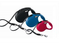 Поводок-рулетка для собак до 15 кг, Flexi New Classic tape S, 5 м