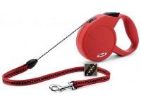Рулетка Flexi Classic 1 (до 12 кг, трос 5 м, красный), размер S