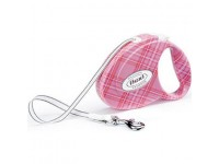 Рулетка Flexi Fashion Ladies 2 (до 25 кг, лента 5 м, розовый), размер М
