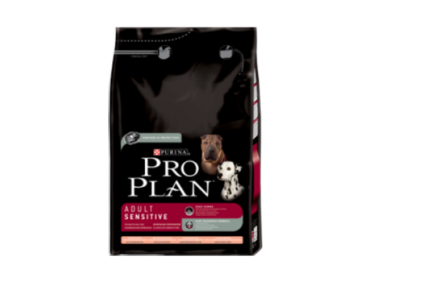 Pro Plan Adult Sensitive Сухой корм для взрослых собак с чувствительной кожей и пищеварением с лососем и рисом, 7,5 кг