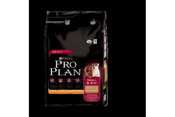 Pro Plan Small & Mini Health & Wellbeing Сухой корм для взрослых собак мелких пород с курицей и рисом, 0,8 кг