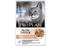 Pro Plan Housecat Влажный корм для кошек, живущих дома, с лососем (соус), 85 г