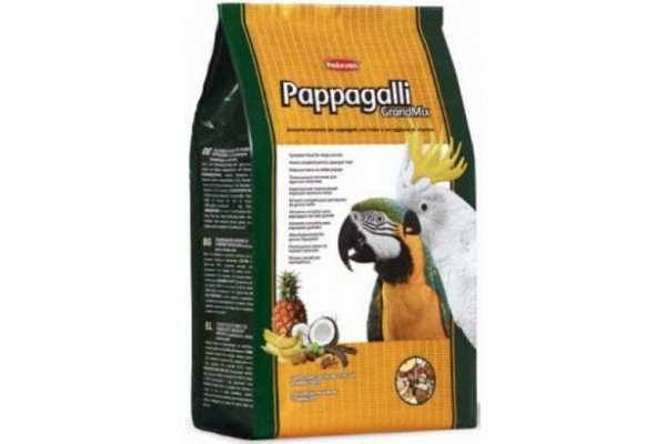 Padovan Pappagalli GrandMix основной корм Падован для крупных попугаев, 600 г