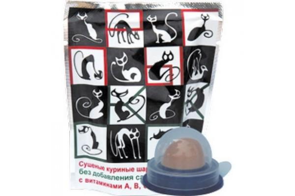 Грин Кьюзин (Green Qzin) лакомство для кошек Прыг-скок Витаминные конфеты из куриного мяса, 10 г