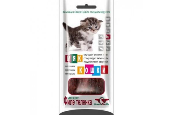 Грин Кьюзин (Green Qzin) лакомство для кошек Мяккошки (мягкое филе кролика), 25 г