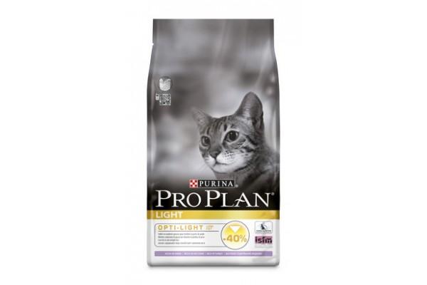 Pro Plan Light Сухой корм для кошек с избыточным весом с индейкой, 1,5 кг