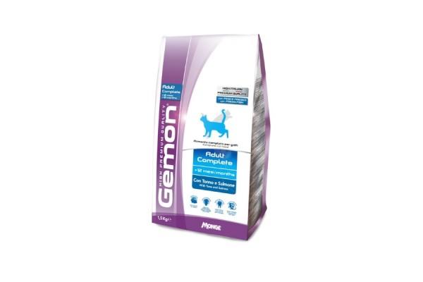 Gemon Cat Adult корм для взрослых кошек с тунцом и лососем, 1,5 кг