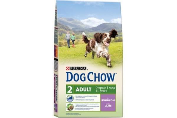 Dog Chow Adult сухой корм для взрослых собак с ягнёнком, 800 г