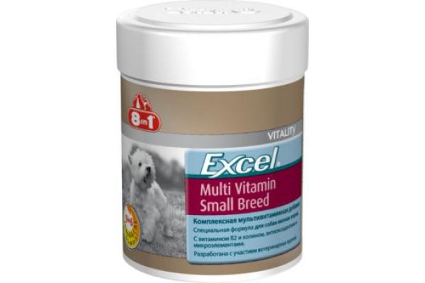 8in1 Excel MULTI VITAMIN Small Breed - Мультивитамины для маленьких собак, 70 таблеток