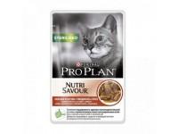 Pro Plan Sterilised Влажный корм для кастрированных котов и стерилизованных кошек с говядиной (соус), 85 г