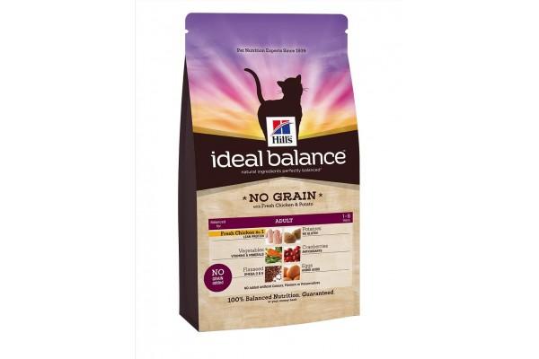 Ideal Balance Feline Adult NO GRAIN - сухой беззерновой корм для кошек, со вкусом курицы и картофеля, 300 г (3225NK)