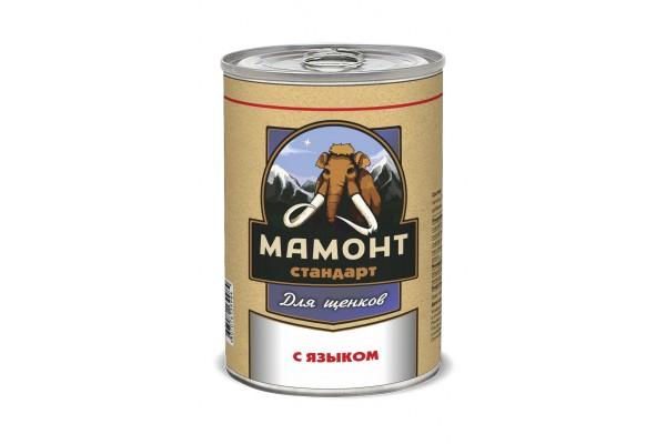 Мамонт Стандарт С языком фарш для щенков, 970 г