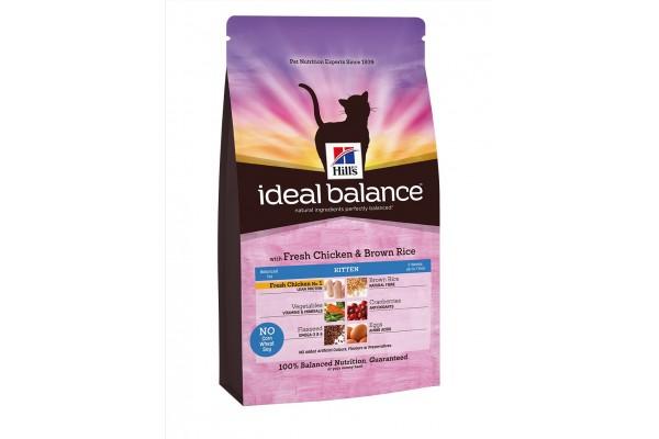Ideal Balance Kitten - сухой корм для котят, со вкусом курицы и бурого риса, 300 г (3228NK)