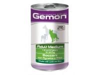 Gemon Dog Medium консервы для собак средних пород кусочки ягненка с рисом, 1250 г