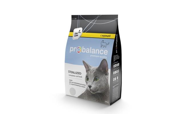ProBalance Sterillized для кастрированных и стерилизованных кошек, 400 г