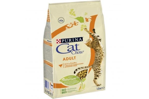 Cat Сhow Adult сухой корм для взрослых кошек с высоким содержанием домашней птицы, 1,5 кг