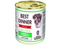 Best Dinner Menu Dog №3 Говядина с кроликом для собак, 340 г (банка)