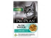 Pro Plan Sterilised Влажный корм для кастрированных котов и стерилизованных кошек с океанической рыбой (соус), 85 г