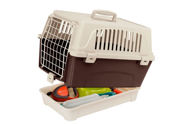 Переноска для кошек и мелких собак с отделением для аксессуаров ATLAS 10 ORGANIZER, 47,6 x 33,25 x h 33,6 cm