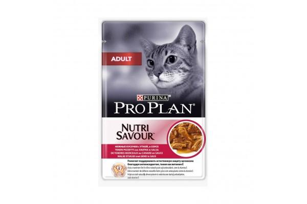 Pro Plan Adult Влажный корм для взрослых кошек с уткой в соусе, 85 г